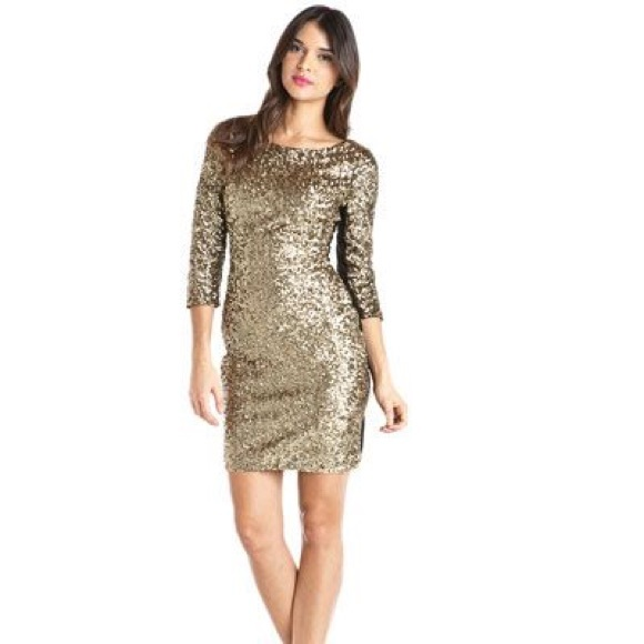 andrew marc dresses andrew marc nwt gold sequin new years eve dress poshmark andrew marc nwt gold sequin new years eve dress